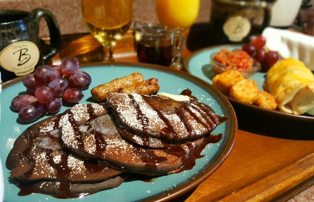 Chocolate cream cheese pancakes