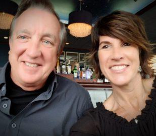man and lady celebrating 14th anniversary