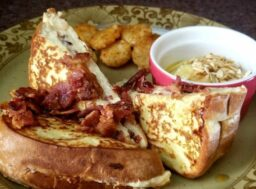 cream cheese and bacon stuffed french toast