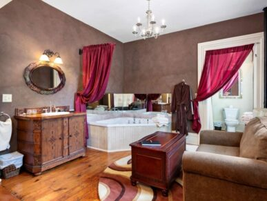 Belle tub, vanity, chair and chest
